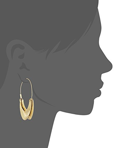 Lucky Brand Womens Gold Organic Hoop Earrings, One Size by Lucky Brand (Image #2)