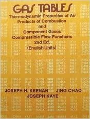 Gas Tables: Thermodynamic Properties Of Air Products Of Combustion And  Component Gases, Compressible Flow Functions