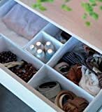 IKEA Set Of 6 Boxes Organiser, Keep Your Drawers Tidy - White by Ikea