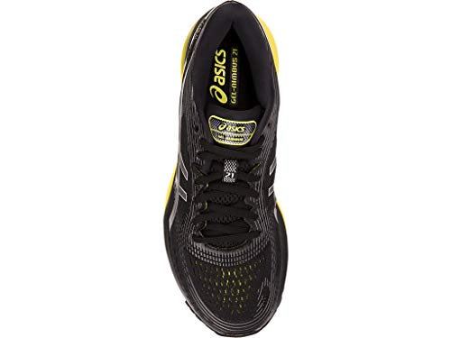 ASICS Men's Gel-Nimbus 21 Running Shoes, 6M, Black/Lemon Spark by ASICS (Image #2)