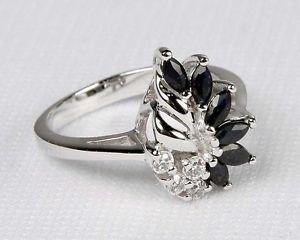 Avon-Sterling-Silver-Genuine-Sapphire-Ring-Size-9