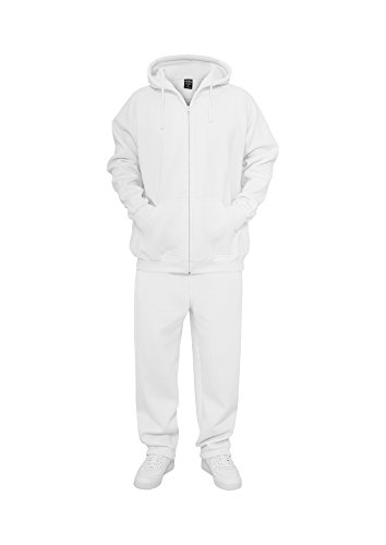 Urban Classics Blank Suit tuta da jogging da uomo grigio bianco 2XL