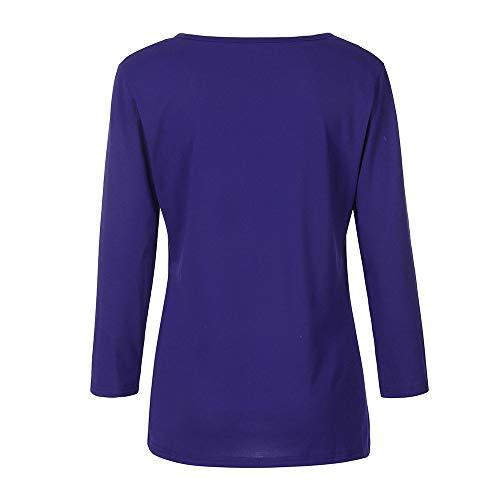 Tunique Longues Sweat Pull Femme pour Ray Sweatshirt Capuche Dames Femme clair Manches dcontracte Bleu Fermeture Pulls Dos Longues Nu Chemisier Shirt POTTOA Chemise Manches RTwxqC8fY