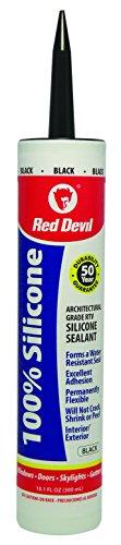 Red Devil 081660 100 Percent Silicone Sealant Architectural Grade,10.1 oz, Black (Black Multi Silicone Purpose)