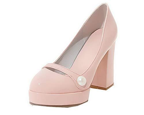 Alto Ballet Flats Puro Maiale Tacco di Tirare Rosa FBUIDD006867 Pelle AllhqFashion Donna Tw8fqfY