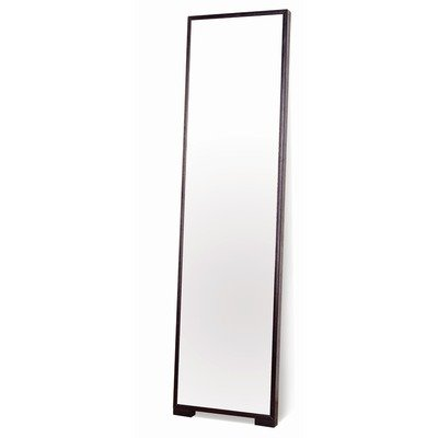 Beverly Hills Furniture Modern Full Length Mirror w Thin Wood Frame - Ash veneer in espresso finish Wooden frame with optional feet Fully finished back - mirrors-bedroom-decor, bedroom-decor, bedroom - 31n2JfStCQL. SS400  -