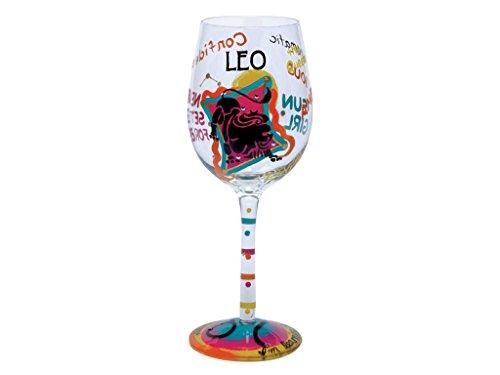 Lolita Love My Sign, Leo Wine Glass
