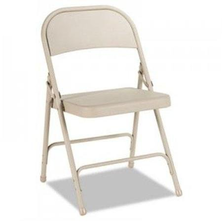 - Alera Steel Folding Chair, Tan, 4/Carton