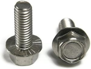 3/8-16 x 1 1/2'' Hex Flange Bolts/Serrated/18-8 Stainless Steel (Quantity: 100 pcs)