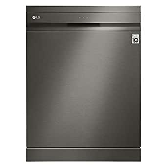 LG 10 Programs 14 Place settings Free standing Steam wash Dishwasher, Matte Black Stainless Steel - DFB227HD