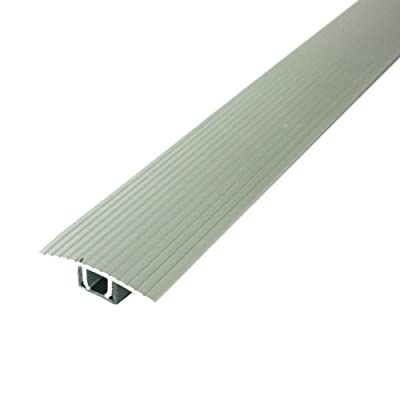"""M-D Building Products Cinch T-Molding w/SnapTrack (Fluted) 36"""" Satin Silver Satin Silver"""