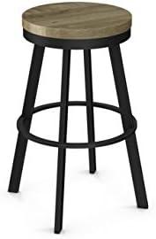 Amisco Warner Swivel Metal Barstool