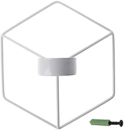 燭台ローソク足キャンドルホルダー 北欧スタイルの3D幾何学的な燭台金属壁キャンドルホルダー壁取り付け用燭台の家の装飾 燭台ローソ