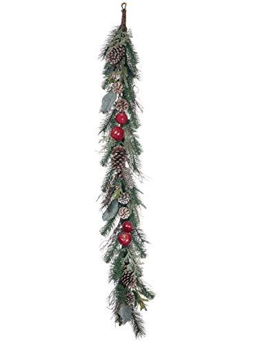 Sullivans Pine, Magnolia, Cone, Apple Garland - Apple Magnolia Wreath