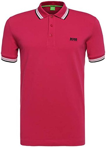 HUGO+BOSS+Green+Men%27s+Paddy+Polo+Shirts+%283X-Large%2C+Dark+Pink%29