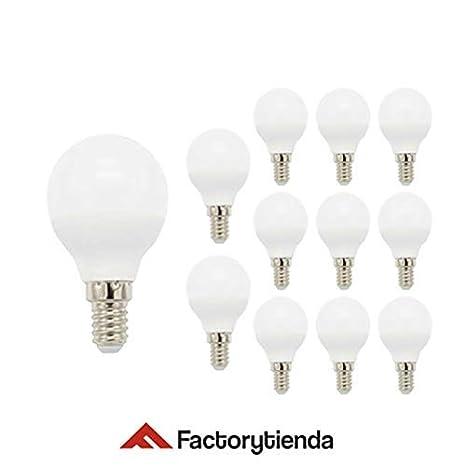 Pack 12 Bombillas LED G45, 7W,(equivalente a 70W), casquillo E14