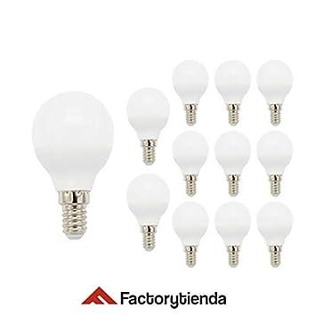 PACK 12 unidades Bombillas LED G45 esferica ,consumo 6W,(equivalente a 60 W