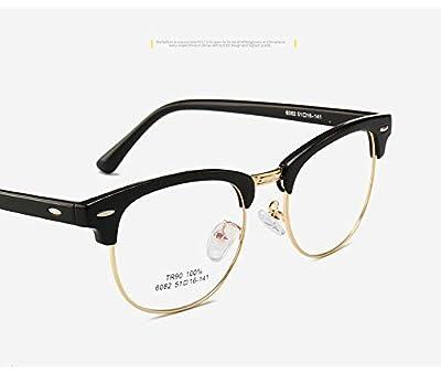Meiyiu Men Women Fashion Retro Frame Plain Glass Spectacles