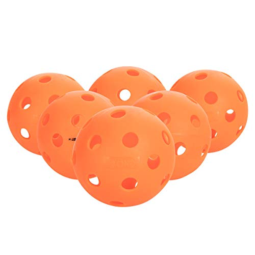 Onix Fuse Indoor Orange Pickleballs 6 Pack