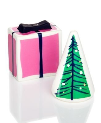 kate spade New York Village Salt & Pepper Set Lenox Gift and Tree 3.25'' by Kate Sapde