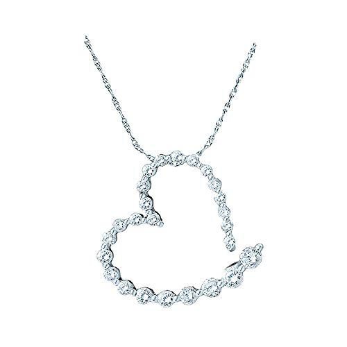 0.25ctw Brilliant Round Cut Diamond Heart Pendant ()