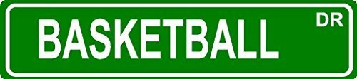 Teisyouhu Decorative Tin Sign Basketball Aluminum Metal Street Yard Fence Sign Gift