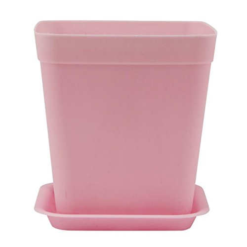 VIASA Garden Supplies Hollow Out Home Garden Pots and Planters Plastic Flowers Pot (Pink) (Buy Where Online Pots To Plant)