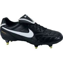 Nike Men's Air Legend SG Soccer Cleats (7.5, Black/White-Volt) ()