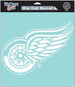 Detroit Red Wings Die-Cut Decal - 8''x8'' White