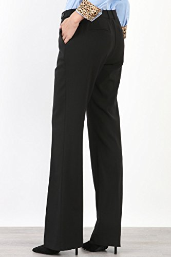 Maryclan Career Women's Dress Pants Little Boot Cut With Double Button Tab Detail (Large, Black) by Maryclan (Image #3)