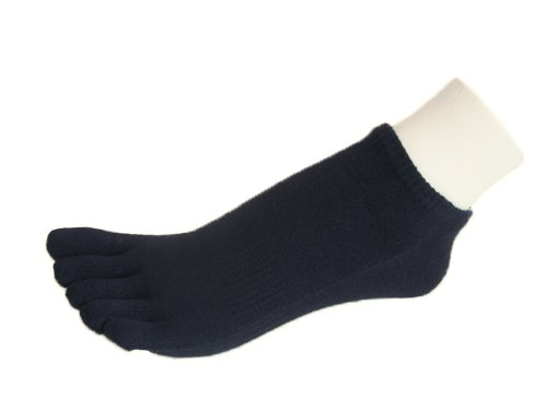 Couver 5 Finger Navy Men's / Women's No Show Toe socks (Many Colors Available)