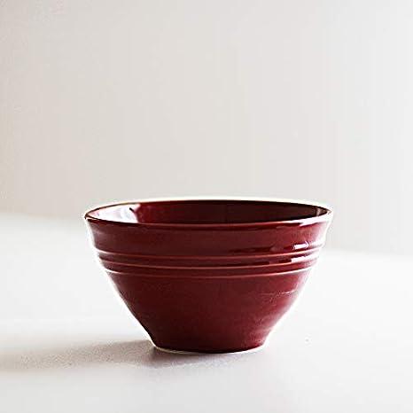 Desconocido Bowl - Bowl pequeño - Rojo - Pottery - cerámica Hecho en Portugal - 16 cm de diámetro: Amazon.es: Hogar