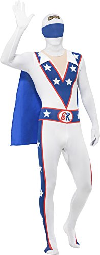 [Small White Evil Knievel Second Skin Fancy Dress Costume.] (Carnival Costume Ideas Uk)