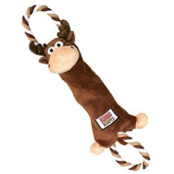 Pet KONG Tugger Knots Moose, Durable multi-layered fabric, Knotted rope inside, Size: Medium/Large Supply ()