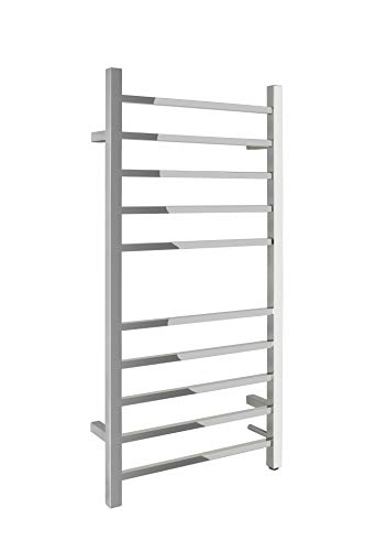 (WarmlyYours 10-Bar Metropolitan Towel Warmer, Hardwired, Polished Stainless Steel )