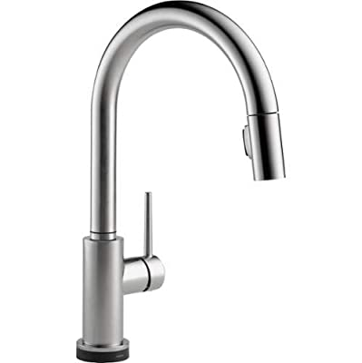 Delta 9159T-DST Trinsic Pull-Down Spray Touch Activated Kitchen Faucet with Magn,