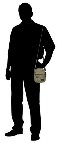 LDWANG - Cartera de mano de Lona para hombre Vert kaki / militaire