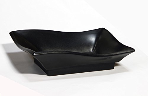 Bathroom Matte Black Ceramic Porcelain Vessel Vanity Sink 7459MB +FREE Pop Up Drain by ELIMAX'S