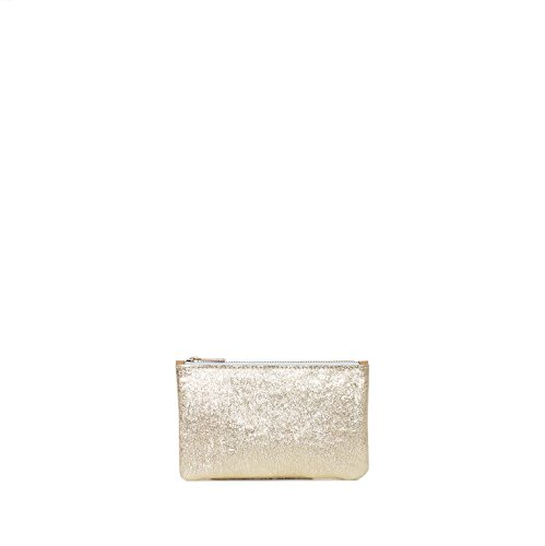 APONI metallic gold leather pouch wallet
