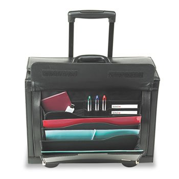 Rolling Catalog/Computer Case, Leather, Black by U.S. LUGGAGE (Catalog Category: Computer/Supplies & Data Storage / Notebook/PDA & Mobile Computing Accessories)