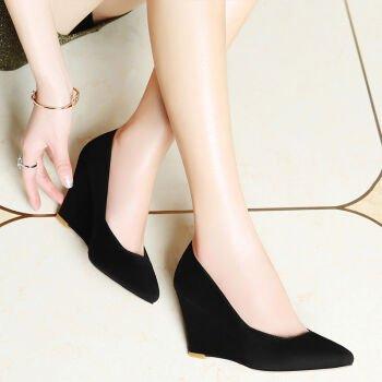 KHSKX-Po Zapatos Documental Superficial Boca Femenina Nueva Primavera Mujer Zapatos De Tacón Alto Zapatos De Moda Casual Todo Partido Señalado black