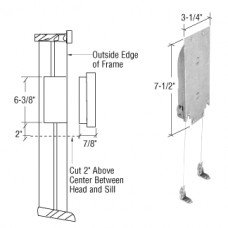 CRL Adjustable Wood Window Sash Balance 4-8 Pounds by C.R. Laurence