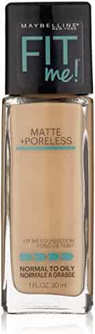 Maybelline New York Fit Me Matte Plus Pore Less Foundation, Soft Sand, 1 Fluid Ounce
