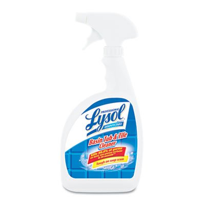 Professional Lysol Basin Tub & Tile Cleaner, Citric Acid Formula, Spray, 384oz (12X32oz)