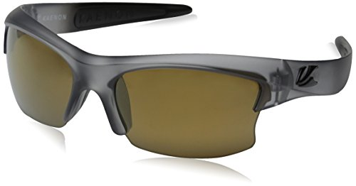 Kaenon mens S Kore Polarized Shield Sunglasses, Carbon & Black Logo, 60 - Black Luxury Logo Sunglasses