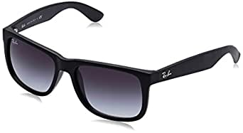Ray-Ban JUSTIN - RUBBER BLACK Frame GREY GRADIENT Lenses 55mm Non-Polarized