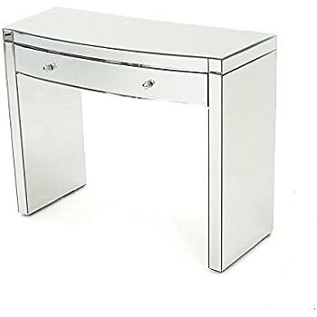 Amazon Com Navas Mirrored Curved Console Table Kitchen