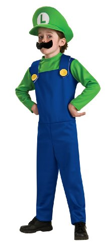 [Super Mario Brothers, Luigi Costume, Toddler] (Super Mario Bros Toddler Mario Costumes)
