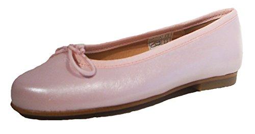 Nichols & Browne Ballerinas Leder rosa mit perlmutt Glanz