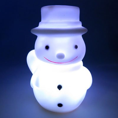 Color Changing LED Snowman Christmas Mood Lamp Night Light